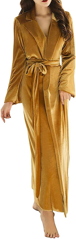 Michealboy Women's Bathrobe Warm Shawl Nightgown Winter Velvet Plush Robes