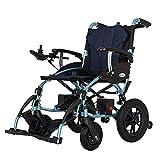 NBVCX Decoración de Muebles Silla de Ruedas eléctrica Plegable para discapacitados Batería de Litio para Trabajo liviano Scooter médico para discapacitados y Ancianos Movilidad Doble Motor