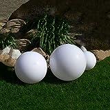 Dapo Kugelleuchte Gartenlampe LED Außenleuchte Marlon Set-20+30+40cm Gartenleuchte Bodenleuchte Kugellampe mit Erdspieß und LED warmweiß 5Watt Dekoration