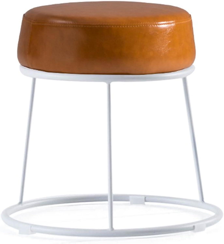 White Stool Table Stool Iron Stool bar Stool Living Room Stool Soft Stool Footstool bedstool Lazy Stool Fashion Bench Creative shoes Stool   38.5  36.5cm (color   C)