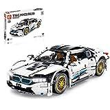 BOXX Coche de técnica deportivo para BMW I8, 1270 piezas de construcción de coche, compatible con Lego Technic