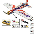 Dancing Wings Hobby 2019 Upgrade Radio Control 3D Electric Airplane Sbach 342 1000mm Wingspan 4CH EPP Foamy Aeroplane; Remote Controlled Aircraft Kit to Build for Adults (E1804)
