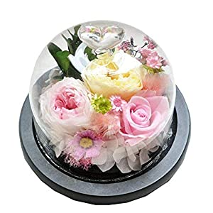 AESTHING Preserved Flower Rose Decoration Never Withered Handmade Fresh Flower Rose with Beautiful Creative Heart Design Gift for Valentine's Day Christmas Anniversary (Pink)