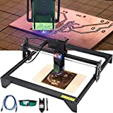 Kit de máquina de grabador láser 20W, diy logo marca impresora cortador CNC grabado máquina de grabado de ojo diseño de plástico acrílico pvc madera talla máquina de grabado (área de tallado 410 x 400