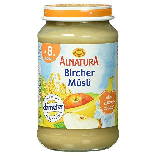 Alnatura Demeter Bio Bircher-Müsli, 6er Pack (6 x 190 g)