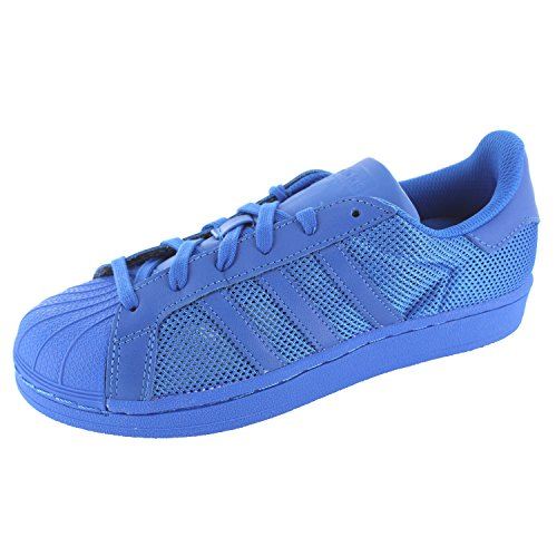 adidas adidas Herren Superstar Sneakers, Blau, 38 EU, Blau (Bluebird/Bluebird/Bluebird), 38 EU