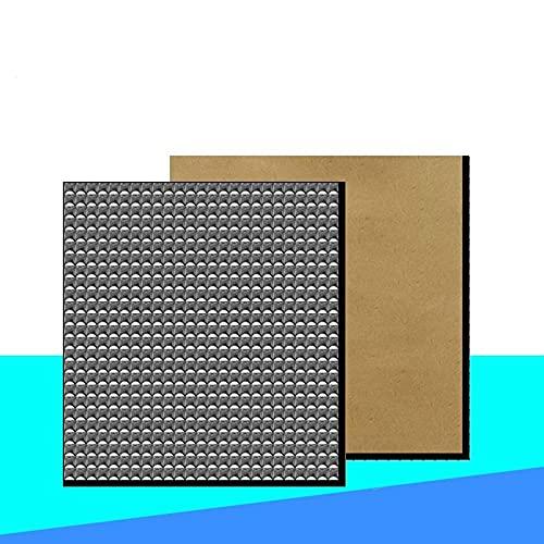 JRUIAN Drucker-Zubehör, 1 Stück Wärmedämmung Baumwolle 200/300 mm Folie selbstklebend Isolierung Baumwolle 10 mm Dicke 3D-Drucker Heizbett Aufkleber 3D-Drucker Teile (Größe: 300 x 300 x 10 mm)
