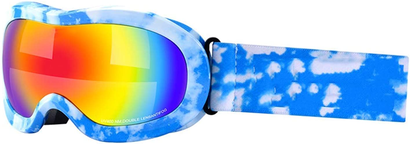 JBP Max Lunettes De Ski Lunettes De Sport Lunettes Lunettes De Ski pour Enfants Anti-Buée Et Anti-UV Mode Et Confort