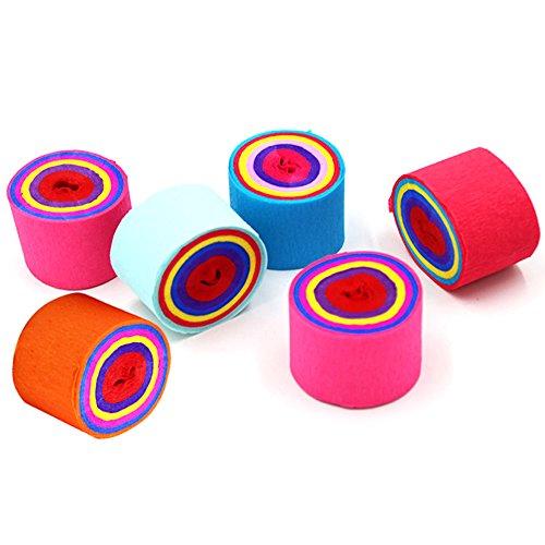 Krepppapier, Rollen, eholder Mehrfarbig 6Stück Home DIY Papier für Festivals Hochzeit Geburtstag Party am Abend Pom Pom Papier-Dekoration, Seidenpapier Streamer
