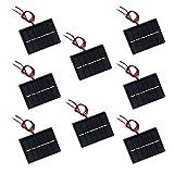 NUZAMAS Juego de 8 piezas de 3 V 65 x 48 mm Micro Mini Panel...
