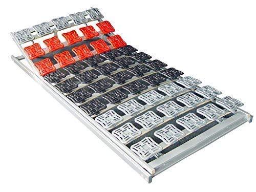 Supply24 5 Zonen Teller Lattenrost/Tellerfeder Lattenrahmen 80/90 x 100 x 190/200 cm Kopfteil und Fußteil verstellbar Tellerlattenrost/Tellerlattenrahmen günstig