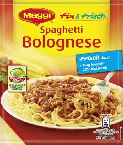 Maggi fix & frisch für Spaghetti Bolognese, 42er Pack (42 x 45 g)