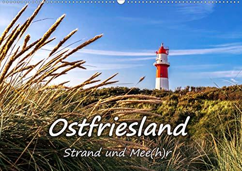 OSTFRIESLAND Strand und Mee(h) r (Wandkalender 2021 DIN A2 quer)