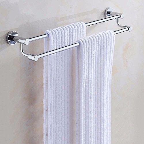 MBYW moderne hoge dragende handdoek rek badkamer handdoekenrek Opbergplank Koper Handdoek Rack Badkamer Handdoek Rack Set Hoge en Lage Dubbele Bar Badkamer Plus Dikke Handdoek Bar Shelf, 40cm
