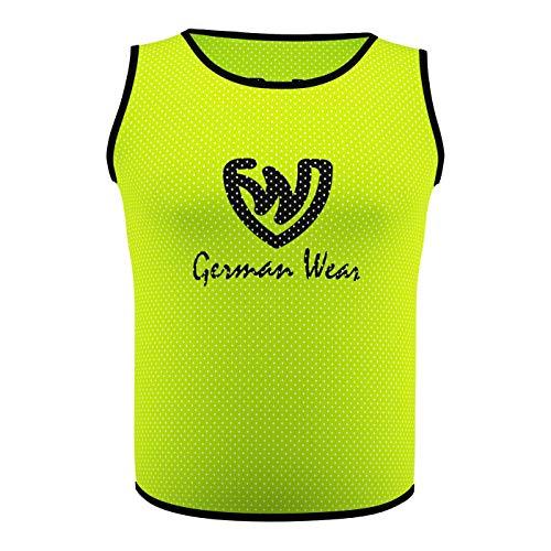 6x petos de entrenamiento de fútbol petos Pegatinas de camisa petos Trikots, unisex, amarillo, 42