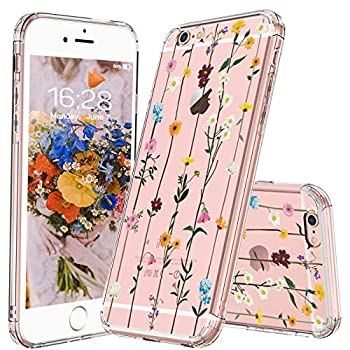 MOSNOVO iPhone 6S Case/iPhone 6 Case Clear Wildflower Floral Flower Pattern Clear Design Printed Transparent Plastic Hard Case with TPU Bumper Case Cover for iPhone 6/iPhone 6S