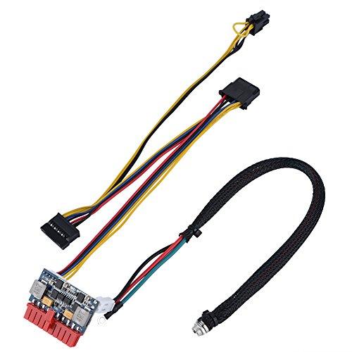 Richer-R Módulo de Alimentación,Fuente de Alimentación Módulo de Conmutador,Conector 20Pin ATX,4Pin AUX 12V,4Pin Mo-Lex,SATA para Mini PC/POS/ITX/20Pin ATX/Máquinas AD,etc.