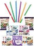 Authentic Bubble Tea Kit, 5 Variety Flavors Mixed, Boba Bubble Pearl and Straws