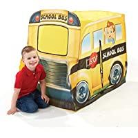 Playhut School Bus Pop-Up Play Tent Easyand Fold Down