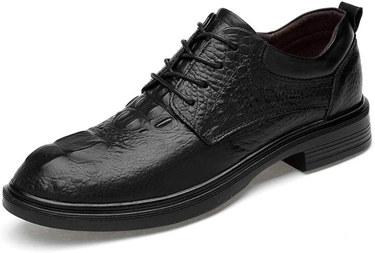 Shuo lan Hommes Décontracté Décontracté Oxfords Confortable Motif De Crocodile Faux Polaire à L'intérieur De Bas Haut Lacets Grande Taille Chaussures Habillées,Chaussures de Cricket