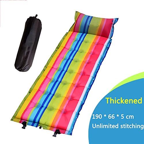 ZYYAY Self Inflating Sleeping Pad,Durable, Ultra Compact, Best Sleeping Pads for Backpacking, Camping, Travel, Hiking,Lightweight Camp Sleep Pad Mat Air Mattress (Size : E)