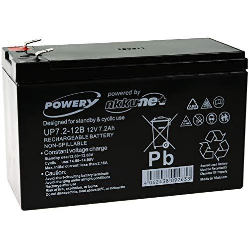 Powery Batería de Gel 12V 7,2A...