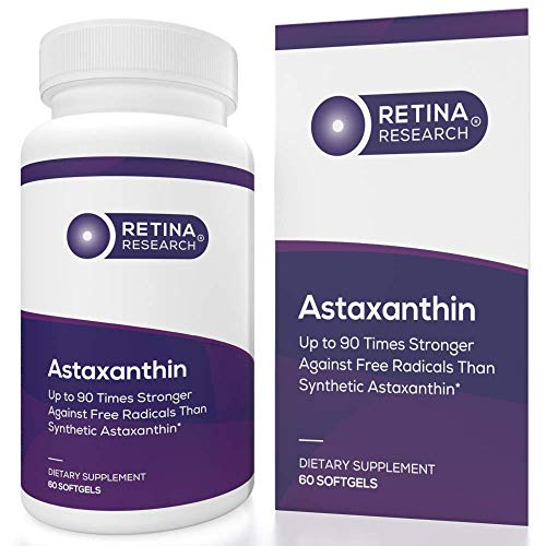 Retina Research Astaxanthin 10mg - Natural Astaxanthin Supplements to Support Eye Health - Up to 90 Times Stronger Than Synthetic - Formulated by Doctors - 3rd Party Certified - 60 Softgels