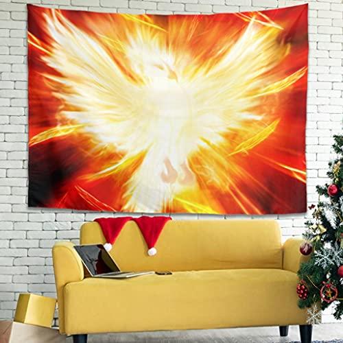 Magiböes Tapisseries - Tapiz decorativo para salón (150 x 130 cm), diseño de pájaros, color rojo