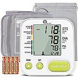 1byone Tensiómetro de Brazo, Monitor de Presión Arterial Digital Automatico con Gran Pantalla con App, Tensiometro para Brazo, Exportar datos como Excel