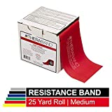 TheraBand Resistance Band 22m Roll, Medium Red Non-Latex Professional Elastic Bands For Upper