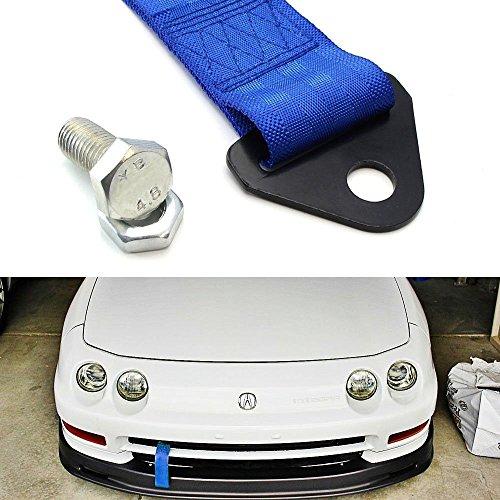 LEAGUE&CO Auto Universal Abschleppband Abschlepp Schlaufe Abschlepphaken für BMW Toyota Audi Honda (Blau)