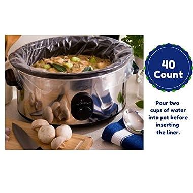 Large Slow Cooker Liners Fits Up To 7-8 Quart Crock Pots 40 Ct