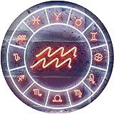 ADV PRO Aquarius Astrology Zodiac Dual Color LED Enseigne Lumineuse Neon Sign Blanc et Orange 600 x 400mm st6s64-i3314-wo
