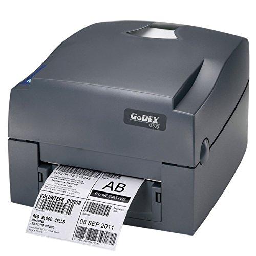 Godex G500, stampante per etichette con trasferimento termico e termico diretto, etichettatrice 203 dpi, modello con guida centrale a strappo