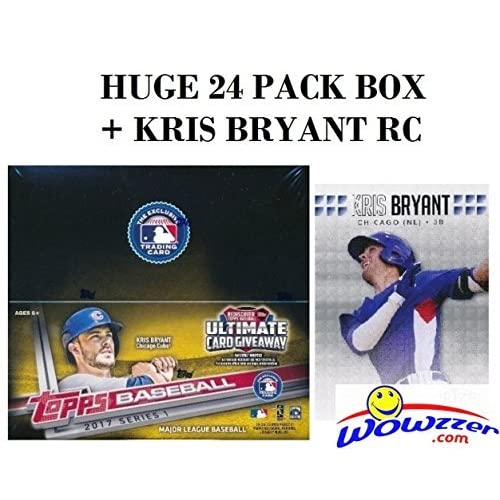 146cb57b40 2017 Topps Series 1 MLB Baseball HUGE 24 Pack Factory Sealed Retail Box  with 288 Cards Plus BONUS 2013 KRIS BRYANT ROOKIE Card! Loaded with Cool  Inserts ...