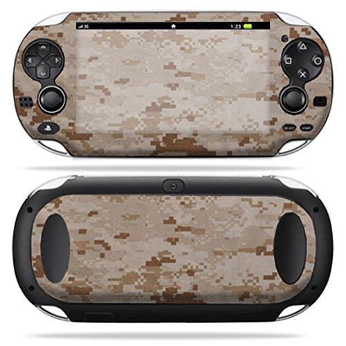 MightySkins Skin Compatible with PS Vita PSVITA Playstation Vita Portable wrap Sticker Skins Desert Camo