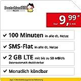 DeutschlandSIM Tarifa móvil con Tarjeta de prepago SIM y Micro SIM, de Recarga mensual (500MB de...