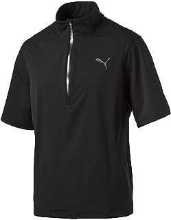 PUMA Golf Men's Short Sleeve Rain Popover Jacket