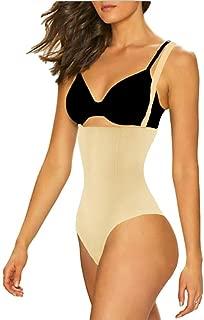 ShaperQueen 102A Thong Bodysuit - Women Seamless Waist Firm Control Shapewear Faja Open Bust Bodysuit & Panty Body Shaper