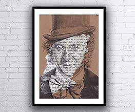 Murdoc Gorillaz Portrait Drawing with Melancholy Hill Lyrics Signed Gicl/ée Art Print A5 A4 A3 size imprim/é paroles artwork