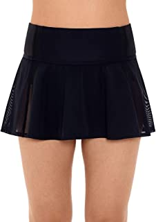 Reebok Women's Swimwear Sport Fashion Mesh Skirt Bathing Suit Swim Bottom