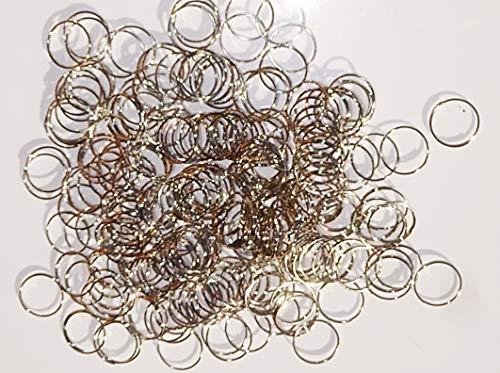 Lot de 250 fermoirs à anneaux chromés de grande taille de 14 mm - Aspect antique - Pour lustres - Pour la fabrication de chaînes de guirlandes, cristaux, gouttes, loisirs créatifs, perles, breloques, décorations de sapin de Noël - Attrape-soleil