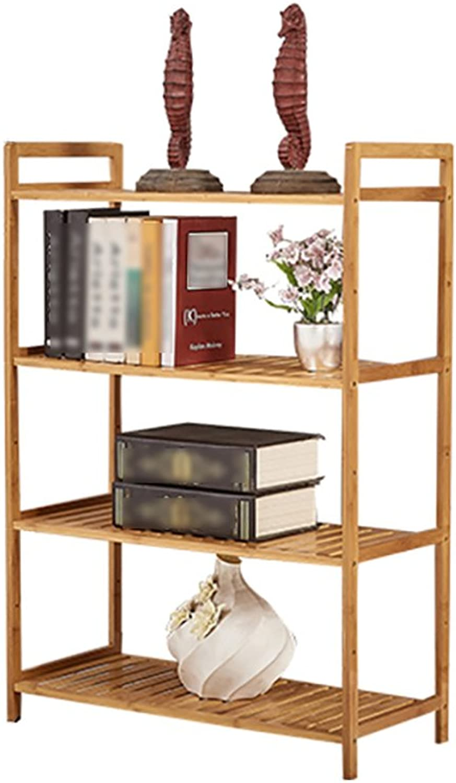 LXLA- Microwave Shelf Kitchen Storage Pot Rack Oven Utensils Floor-Standing 3,4,5-Tier Multilayer Wood 53 68×30×127cm (color   4 Layers, Size   68CM)