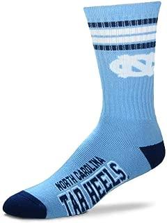 Mens NCAA 4 Stripe Deuce Crew Socks
