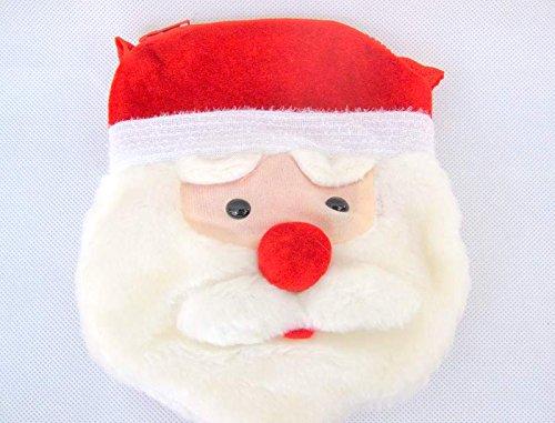 Weihnachten Tasche Velvet mit Santa Face