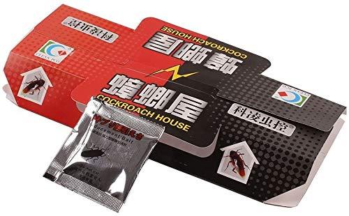 zyh 10 Piezas de Trampa de Cebo para cucarachas,Pegatina de Trampa de Cebo,Repelente de cucarachas de Uso doméstico no tóxico para plagas