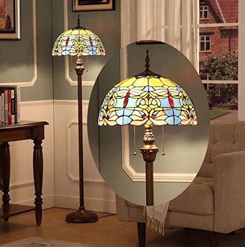 Dekorative Stehlampe Magische Beleuchtungsoptionen Moderne Stehlampe Raumleuchte Tiffany-Stil Stehlampe 40,6 cm Barock Blau Kreative Augenschutz Stehlampe für Wohnzimmer Modern Minimalist Stai S