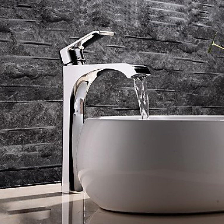 WG Waschbecken Wasserhahn - Verbreitete Chrom Mittellage Einhand EIN LochBath Taps