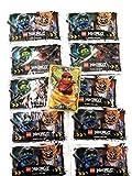 Lego Ninjago Trading Card Game Serie 3: 10 paquetes de 5 cartas + tarjeta adicional LE2 Spinjitzu Meister Kai