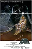 Posters USA Star Wars Original Episode IV A New Hope Movie Poster GLOSSY FINISH - FIL331 (24' x 36' (61cm x 91.5cm))